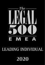 Legal 500 - Leading individual