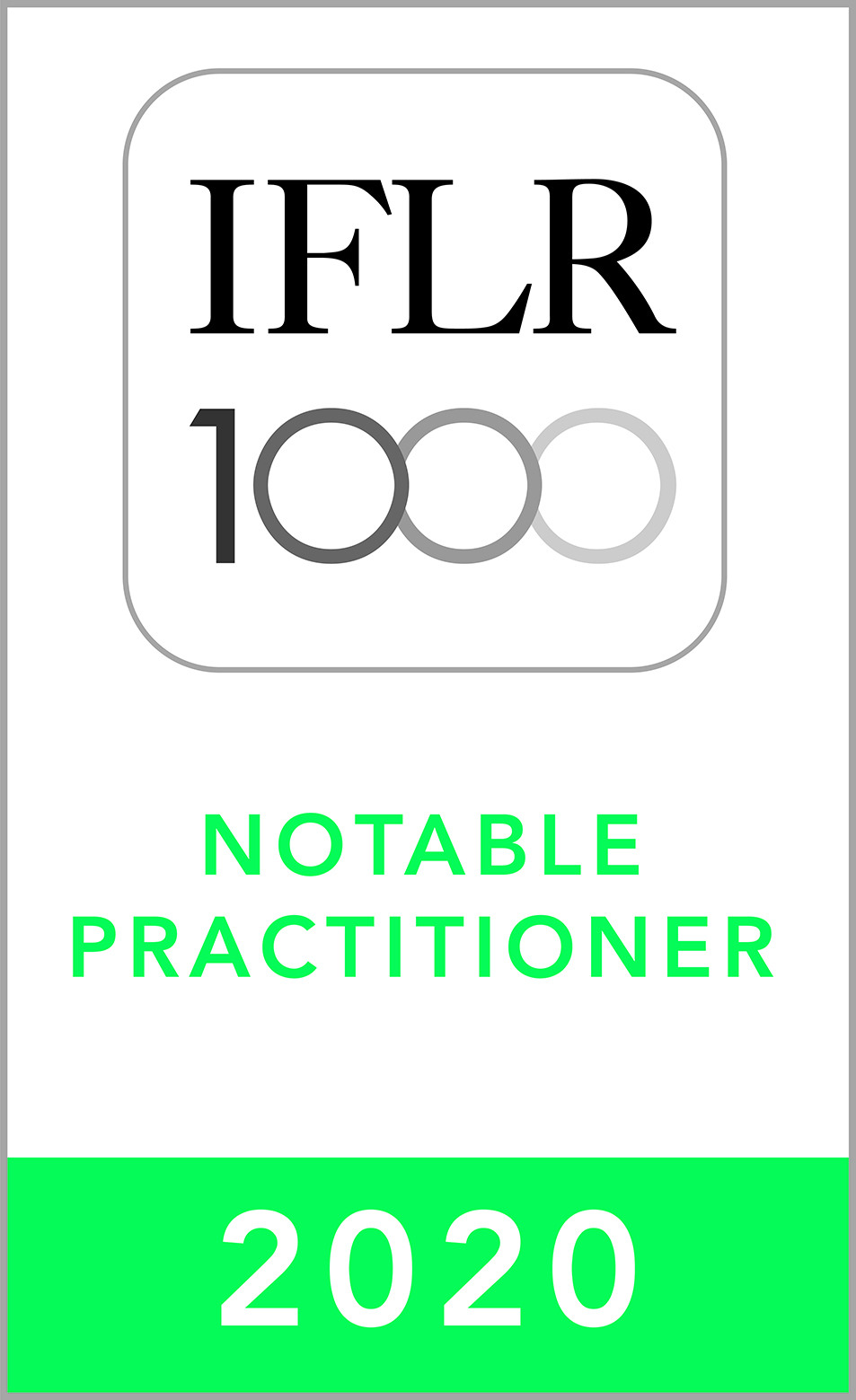 IFLR Notable Practitioner 2020